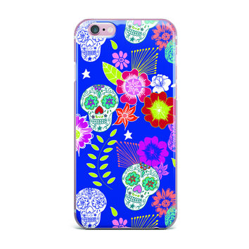 "Anneline Sophia ""Day of the Dead"" Blue Aztec iPhone Case"