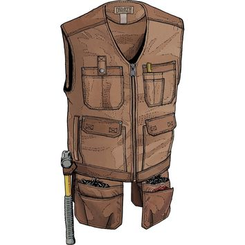 Men's Ultimate Fire Hose Apron Work Vest