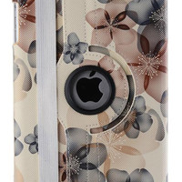 Floral Pattern Leather Case for Apple iPad Mini