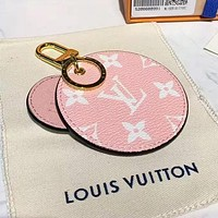 Louis Vuitton LV Newest Hot Sale Cute Bag Charm And Key Holder Pink