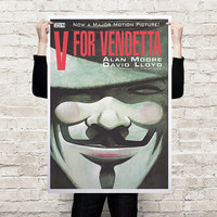 V for Vendetta Vertigo rare poster A3 / A2 / A1 printed on paper or canvas