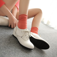 Lace Up Wedges Women Shoes 8077