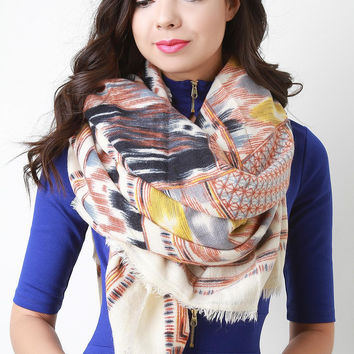 Abstract Navajo Inspired Blanket Scarf