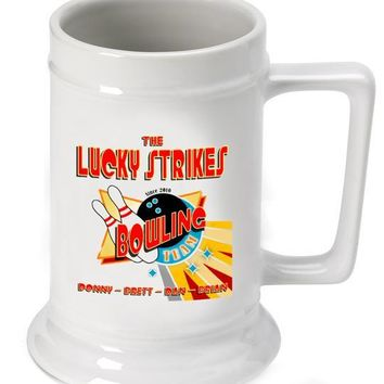 16oz. Ceramic Beer Stein - Bowl Team