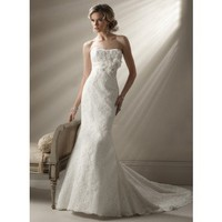 Trumpet / Mermaid Net Sleeveless bridal gown