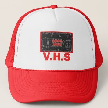 Horror Movies -V.H.S Red Trucker Hat