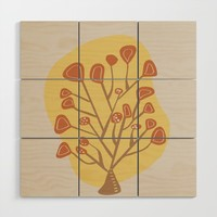 Modern floral forms 04 Wood Wall Art by naturalcolors