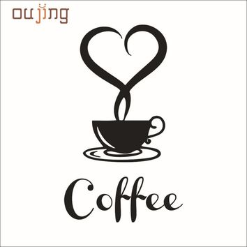 Fashion Heaven 20*12.5cm Wall paper Removable DIY Kitchen Decor Coffee Cup Decals Vinyl Mug Wall Sticker jun 14 cozinha