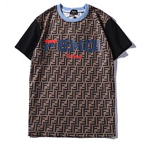 Fendi Women Men Fashion Short Sleeve