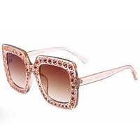 GUCCI Female Diamond Glasses Fashion Personality Sunglasses