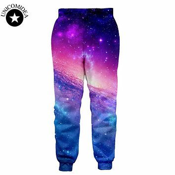 2017 New 3D Pants Print Galaxy Graphic Space Cat funny Trousers for men women Hip Hop Sweatpants