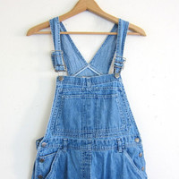 20% OFF SALE 90s Bib Overalls jean shorts. bibs shorts. Women's dungarees. size M