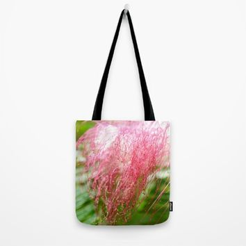 Pink Costa Rican Flower Tote Bag by UMe Images