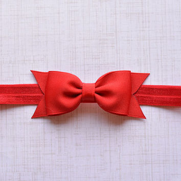 Red Bow Headband. Red Baby Headband. Red Baby Bow Headband. Baby Hair Accessories. Girls Hair Accessories. Red Headband. Red. Bow Headbands