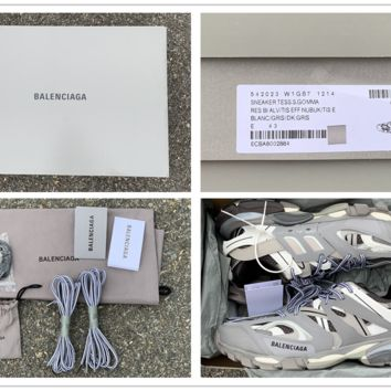 Balenciaga Trainers Track Led Lighted Sole   Grey Sneakers