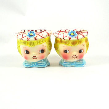 Vintage Miss Dainty Salt and Pepper Shakers by Lefton from 1950s