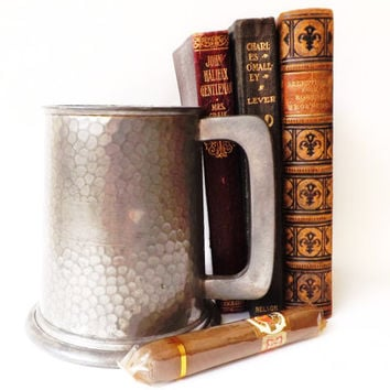 English Pewter Tankard Viners Pub Beer Mug, Vintage Bar, British Ale Mug, Sheffield Pewter, Male Gift, Rustic Mug, Man Cave Bar