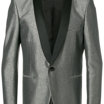 Saint Laurent Metallic Smoking Jacket - Farfetch
