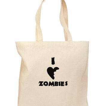 I Heart Zombies - Funny - Halloween Grocery Tote Bag