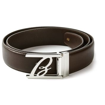 Brioni Logo Buckle Belt