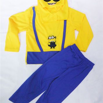 Minions Costume, Halloween Costume for Kids, 3-8 Years Boys
