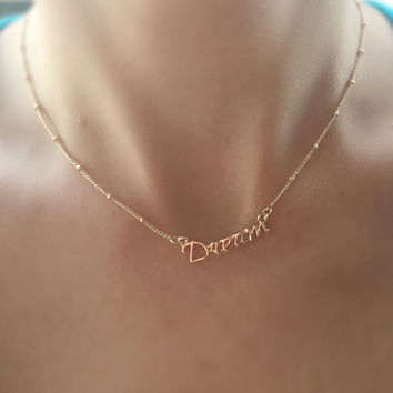 Beautiful Gold Filled DREAM Charm Necklace! Stylish to wear in the summer! Perfect for present or any occasion!