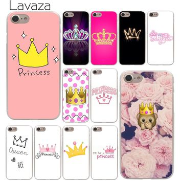 Lavaza PRINCESS Queen boss crown king Hard Phone Cover Case for Apple iPhone 10 X 8 7 6 6s Plus 5 5S SE 5C 4 4S Coque Shell