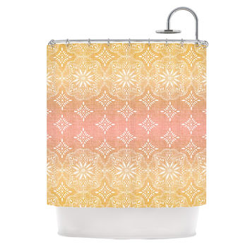 "Suzie Tremel ""Medallion Blush Ombre"" Pink Shower Curtain"