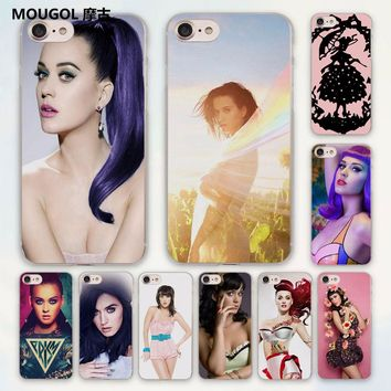 MOUGOL katy perry Sweet Style design hard clear Case Cover for Apple iPhone 7 6 6s Plus SE 4s 5 5s 5c Phone Case