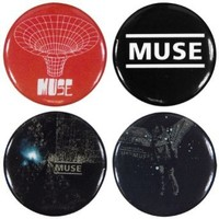 Muse - Unisex-adult Muse - Classics 4 Piece Button Set Multi