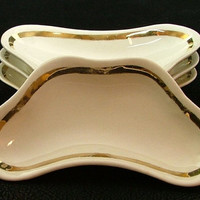 "Antique ""Taylor, Smith, and Taylor"" Bone Plates, Ca. 1910 Set of 4"