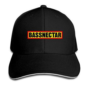 Bassnectar Logo Unisex 100% Cotton Adjustable Trucker Hat Black One Size