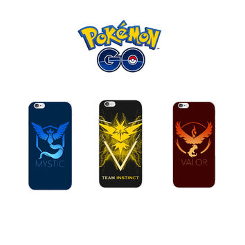 Mobile game Pokemon Go Team Valor Team Mystic Team Instinct protection Hard case cover for Iphone 6 6S 6 Plus