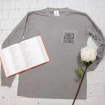 Fully Known and Loved Pocket Tee