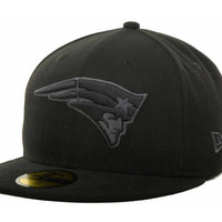 New England Patriots NFL Black Gray Basic 59FIFTY Cap