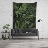Tropical leaves 02 Wall Tapestry by vanessagf