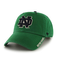 NCAA Notre Dame Fighting Irish Ice '47 Clean Up Adjustable Hat, Kelly, One Size,Kelly