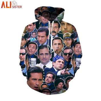 Alisister Many Faces Of Michael Scott Hoodies Sweatshirt Men Women Plus Size 3d Tracksuit Casual Pullover Outfits Tops DropShip