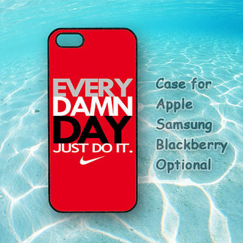 Just Do It for iphone 5 case, iphone 4 case, ipod 4 case, ipod 5 case, Samsung galaxy S3, Samsung galaxy S4, note 2, blackberry q10, z10