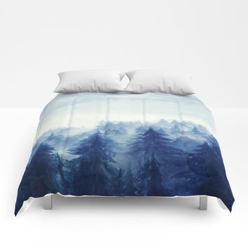 Into The Forest II Comforters by Marco Gonzalez