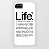Life.* Available for a limited time only. (White) iPhone Case by WORDS BRAND™