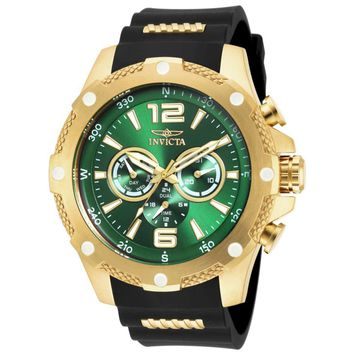 Invicta 19661 Men's I-Force Green Dial Steel & Polyurethane Strap Compass Watch