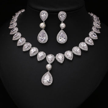 CZ Jewelry Set For Wedding