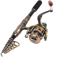 Travel Portable Spinning Casting Fishing Rod and Reel Combos Saltwater Freshwater Telescopic Fishing Pole Set