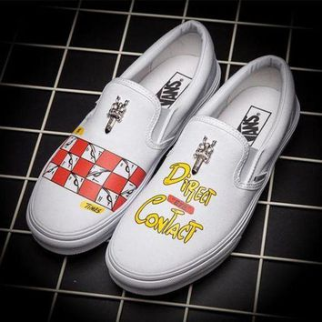 VANS Graffiti Print Canvas Old Skool Flats Shoes Sneakers Sport Shoes