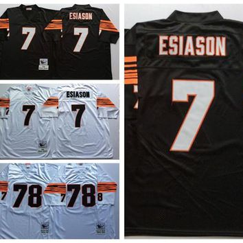 Throwback 78 Anthony Munoz Jersey Man Team Color Brown White 7 Boomer Esiason Jerseys Retro Fashion Best All Stitched Quality On Sale