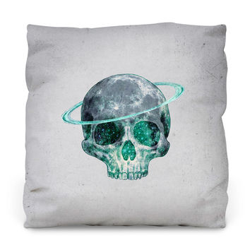 Cosmic Skull Throw Pillow