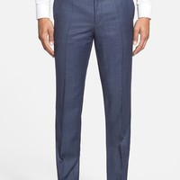 Men's HUGO 'Heibo' Flat Front Wool Blend Trousers ,