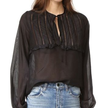 St. Jean Ruffle Full Sleeve Top