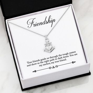 Friendship anchor necklace